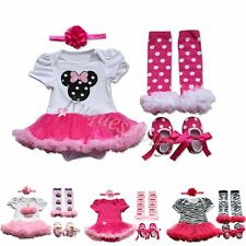 Baby Girl Romper Tutu Skirt Dress + Headband Set Size 0000,000,00 Outfit Clothes