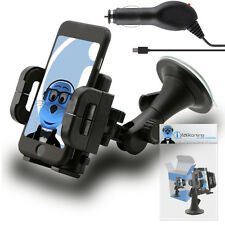 Heavy Duty Rotating Car Holder with Micro USB Charger for LG GS290 Cookie Fresh
