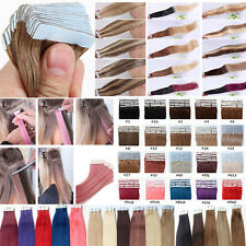 18inches 45cm Tape in Remy Human Hair Extensions Seamless Weave Grade 7AAAAA