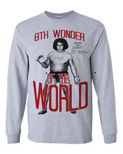 602 Andre the Giant Long Sleeve Shirt 8th wonder of the world eighth wrestling