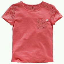 Girls Tops Short Sleeves T Shirt Cherokee White or Coral Age 5 6 7 8 9 10 Years