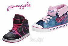 Girls Pineapple Authentic Black Trainers or Pineapple Blue Canvas UK Size 5
