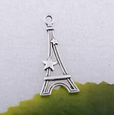 Wholesale 15pcs/50pcs/100pcs Tibet Silver Tower With Star Charm Pendant Crafts