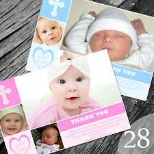 Personalised Photo Boy / Girl CHRISTENING / Baptism / THANK YOU cards (CTY28)