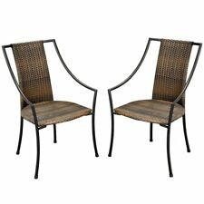 Home Styles Laguna All-Weather Wicker Dining Chairs - Set of 2