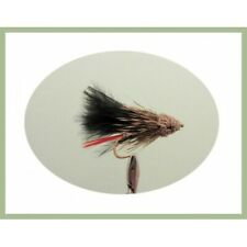Muddler Minnow Trout Flies, 6 Pack Black Muddler, Choice of SIzes, Fly Fishing