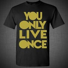 Drake Lil Wayne ovoxo Yolo Gold T Shirt swag dope hip hop You only live once tee