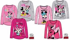 Girls Official Disney MINNIE MOUSE Long Sleeved TOP T- Shirt Age 2-10 Years