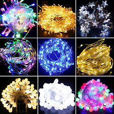 LED Battery Operated Lights Fairy Lights String Wedding Party Home Outdoor Decor