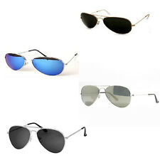Fancy Dress Police Army Gangster Aviator Sunglasses Summer Mirror Silver Tint