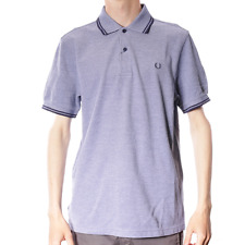X Fred Perry Twin Tipped Polo Shirt - Medieval Blue