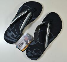 NWT BOYS YOUTH KIDS OAKLEY TREATY BLACK FLIP FLOPS SANDALS SZ 6