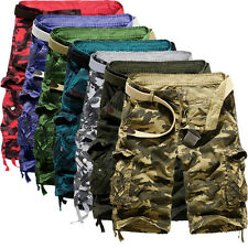 Summer Men's Casual Military Camouflage Cargo Work Short Baggy Multi-pocket Pant