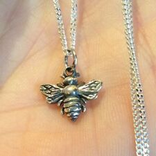 925 Sterling Silver Bee Necklace Honeybee Bumble Bee Insect Animal Charm Pendant