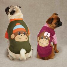 Dog Cat Clothes Apparel  East Side Collection Monkey Business Raglan Tee Shirt