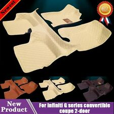 Main Car Floor Mats for Infiniti G series convertible coupe 2-door W78t Leather