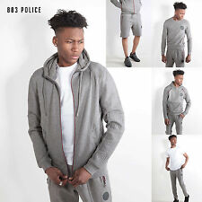 Mens 883 Police Designer Marl Grey Collection Sweatshirt Hoodie Joogers Shorts
