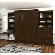 Bestar Pur Murphy Wall Bed with One 5-Shelf and One 3-Drawer/Shelf Storage Unit