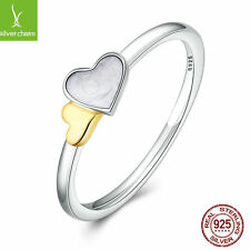 Women 925 sterling silver Luminous Hearts Feature Ring With 14k Hearts Item Ring