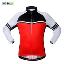 WOSAWE Winter Cycling Jackets Fleece Thermal Windproof Long Sleeve Jersey+ Coats