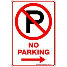 Safety Sign - NO PARKING P ARROW RIGHT