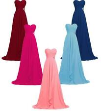 Long Chiffon Prom Party Formal Evening Gown Sweetheart Bridesmaid Dress M4254