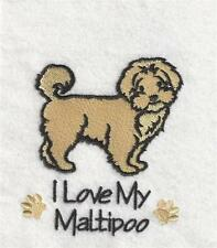 MALTIPOO   POLO SHIRT  EMBROIDERED  10 COLOURS 5 SIZES  BNWT