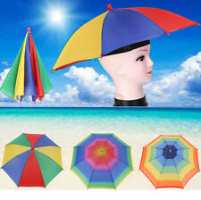 8 Ribs Foldable Sun Umbrella Hat Golf Fishing Camping Headwear Cap Head Hats