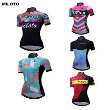 MILOTO Pro Team Women's Cycling Bike Outdoor Sportwear Bike Short Sleeve Jersey