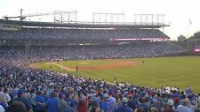 2-Tickets Chicago Cubs vs Miami Marlins Wednesday 06/07/17 @ Wrigley Field