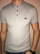 HUGO BOSS POLO SHIRT BY BOSS GREEN SLIM FIT GRAY STRETCH COTTON NWT S M L