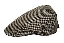 Men's Plaid Golf Summer flat Ivy Driving Cabbie Newsboy Cap Hat Brown