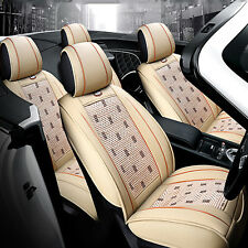 Comfort Leather Ice Silk Car Seat Cover Chair Cushion Main Seat Mat Universal