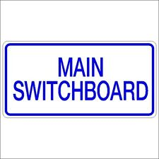 Safety Sign - MAIN SWITCHBOARD