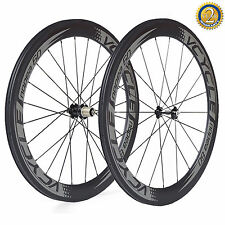 VCYCLE 60mm Clincher Road Bike Carbon Wheels Road  Bicycle Wheel Free Shipping