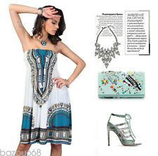 Hot New Casual Summer Strapless Flower Printing Bohemia Party Women Beach Dress