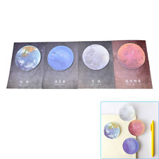 1Pc Planet Memo Pad Notebook Sticky Note Portable School Stationary Fa