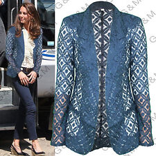 Next Navy Floral Lace Blazer Jacket Casual Party Formal Womens Ladies