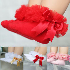 Fashion Infant Baby Kids Lace Bowknot Socks Anklets Soft Cotton New Stocking S-L