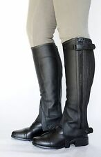 Just Chaps Child Classic Leather Riding Half Chaps - Black & Brown All sizes