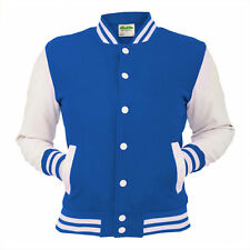 Royal Blue Varsity Jacket College Letterman Coat Baseball Top American Fashion