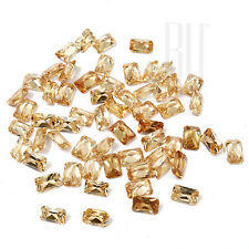 Champagne Color Cubic Zirconia AAA Quality Calibrated Octagon Shape gemstones