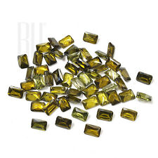 Olive Green Color Cubic Zirconia AAA Quality Calibrated Octagon Shape gemstones