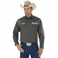 Wrangler MP1291M Rodeo Ram Series Logo Long Sleeve Solid Shirt - No tax Sell!!