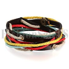 Fashion Women/Men Surfer Tribal Wrap Multilayer Leather Cuff Bracelet Bangle New