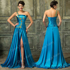 Long Masquerade Split Evening Party Ball Gown Formal Prom Bridesmaids Dress