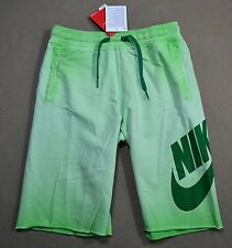 NWT BOYS YOUTH NIKE GREEN DYED SWOOSH STRAIGHT FIT ATHLETIC SWEAT SHORTS SZ M