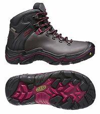 Keen Liberty Ridge Waterproof Women's Boot Shoes, Gargoyle/Beet Red, 1013991