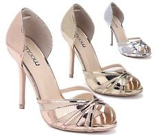 NEW HIGH HEEL LADIES PLATFORM MARY JANE STRAPPY PEEPTOE SANDALS SHOES SIZE