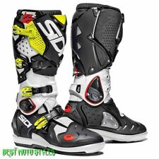 SIDI CROSSFIRE 2 SRS Off road MX Motorcycle boots Men white Black Neon Yellow